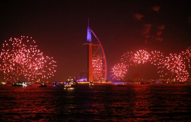 Fireworks view on Burj Al Arab