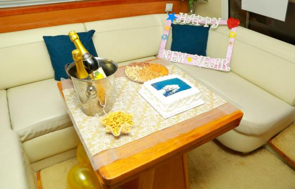 New Year Celebration on Luxury Yacht