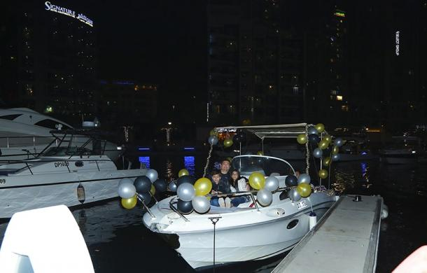 decorated yacht for birthday